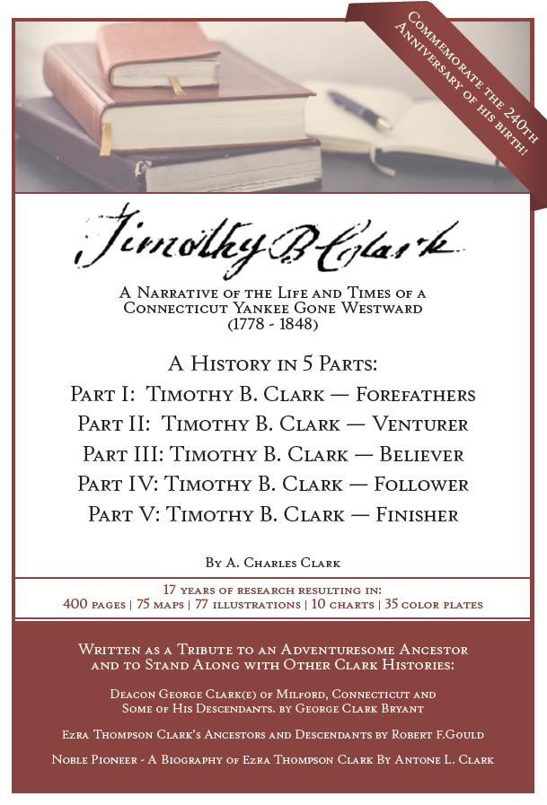Timothy B. Clark Book Birthday Flyer